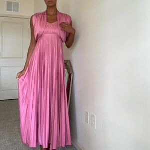 Pink vintage dress with duster